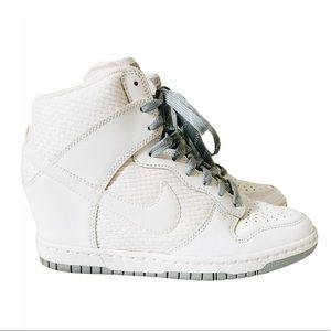 Nike Dunk Sky Hi White Wedge Sneakers